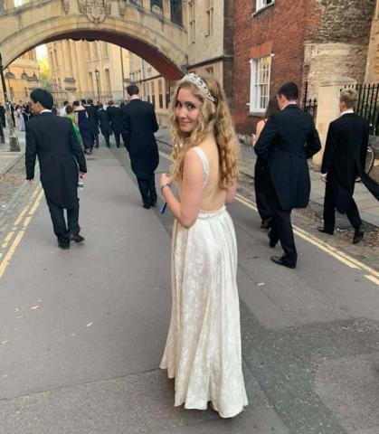 Restyled vintage dress for New College White Tie Ball. (2019)