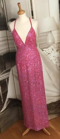 Beaded gown, taken in and shortened straps